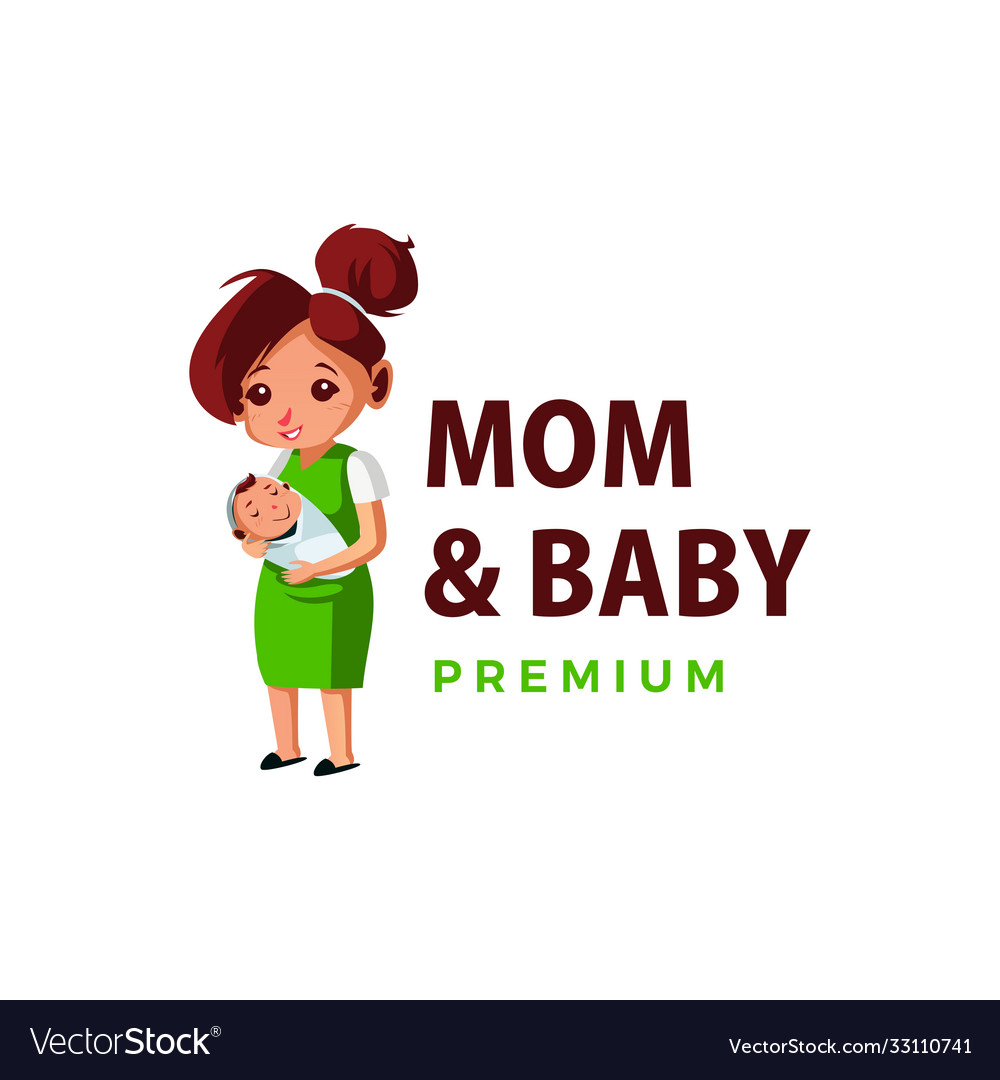 Mom and bathump up mascot character logo icon