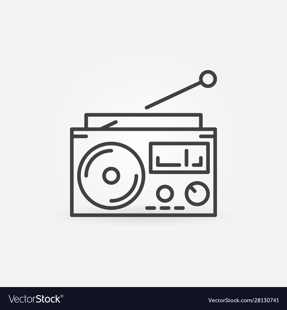 Old radio concept icon in thin line style