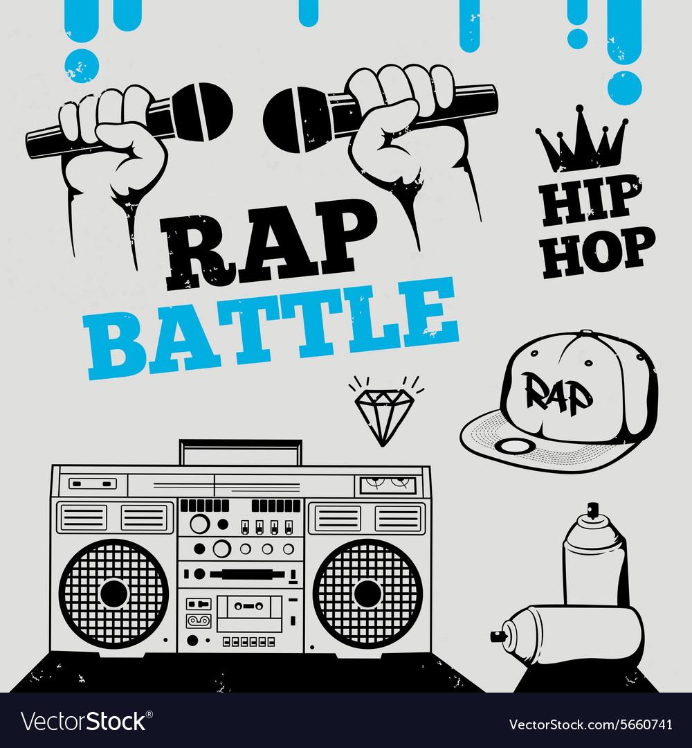Rap battle hip-hop breakdance music element