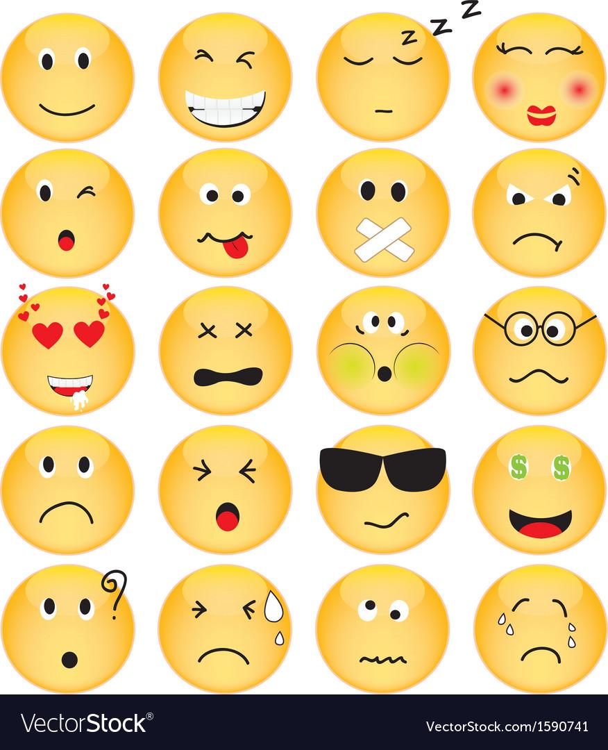 Set of Emotion Icons
