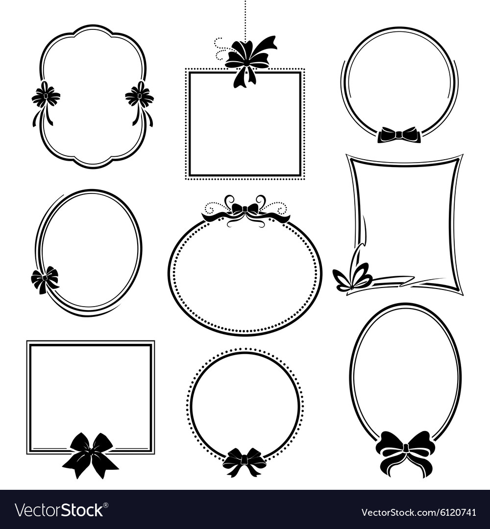 Set of frames with bows