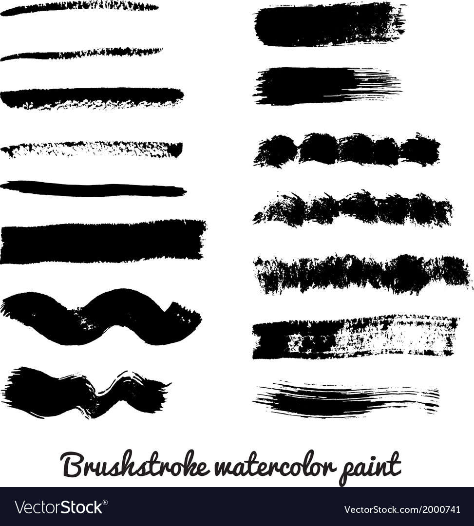 Set of real brush strokes