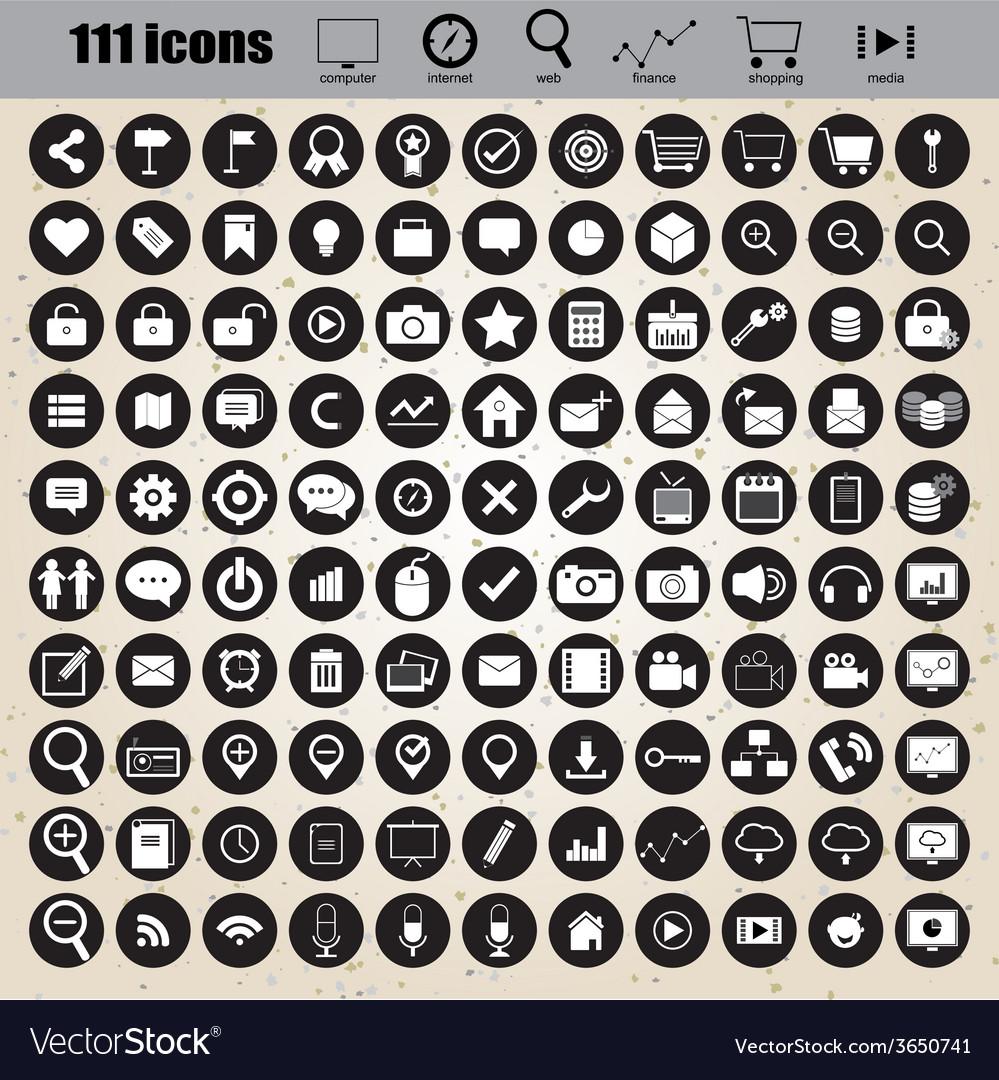 Web design icons set eps 10