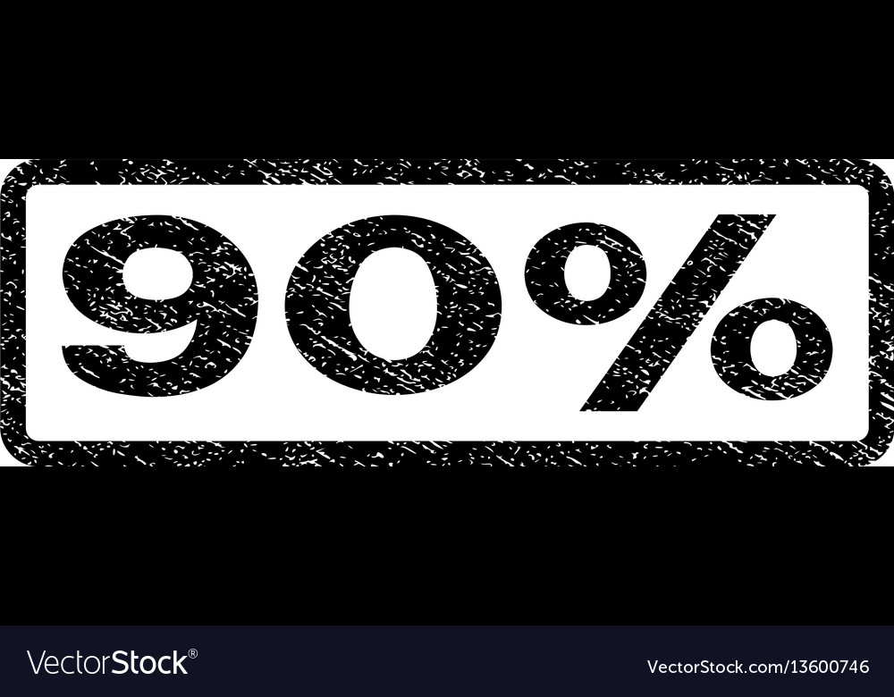 90 percent watermark stamp vector image