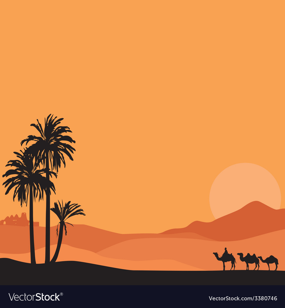Background with desert vector image