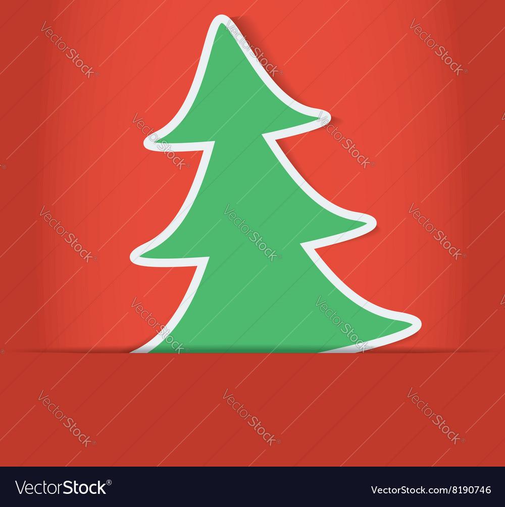 Christmas tree inside of paper envelope