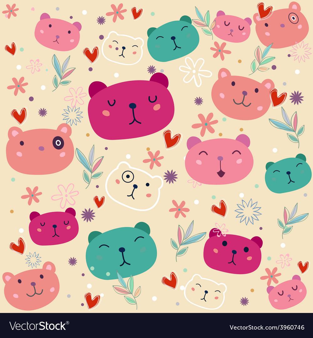 Fancy Bear Colorful pattern