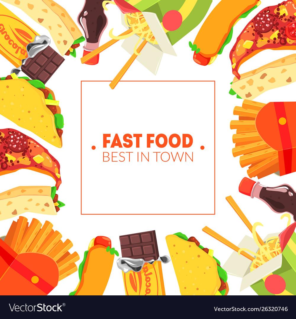 Fast food banner template restaurant cafe design