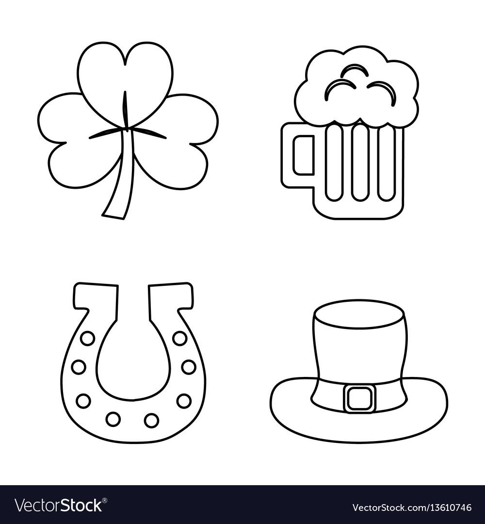 Happy st patricks day icon