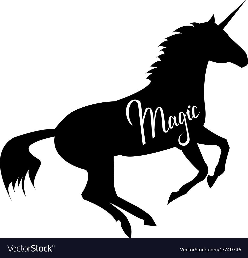 Magic phrase on unicorn vector image