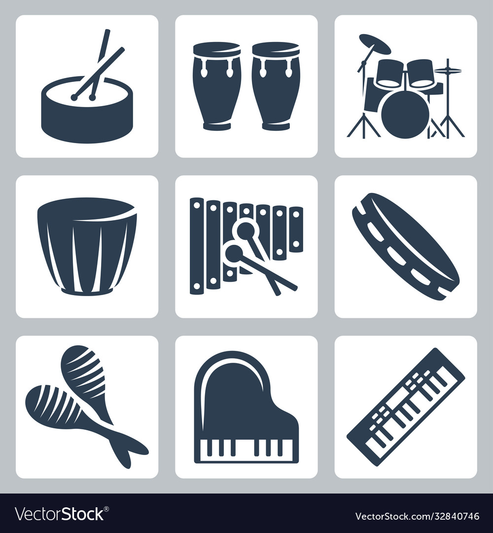 Musical istruments drums and keyboards