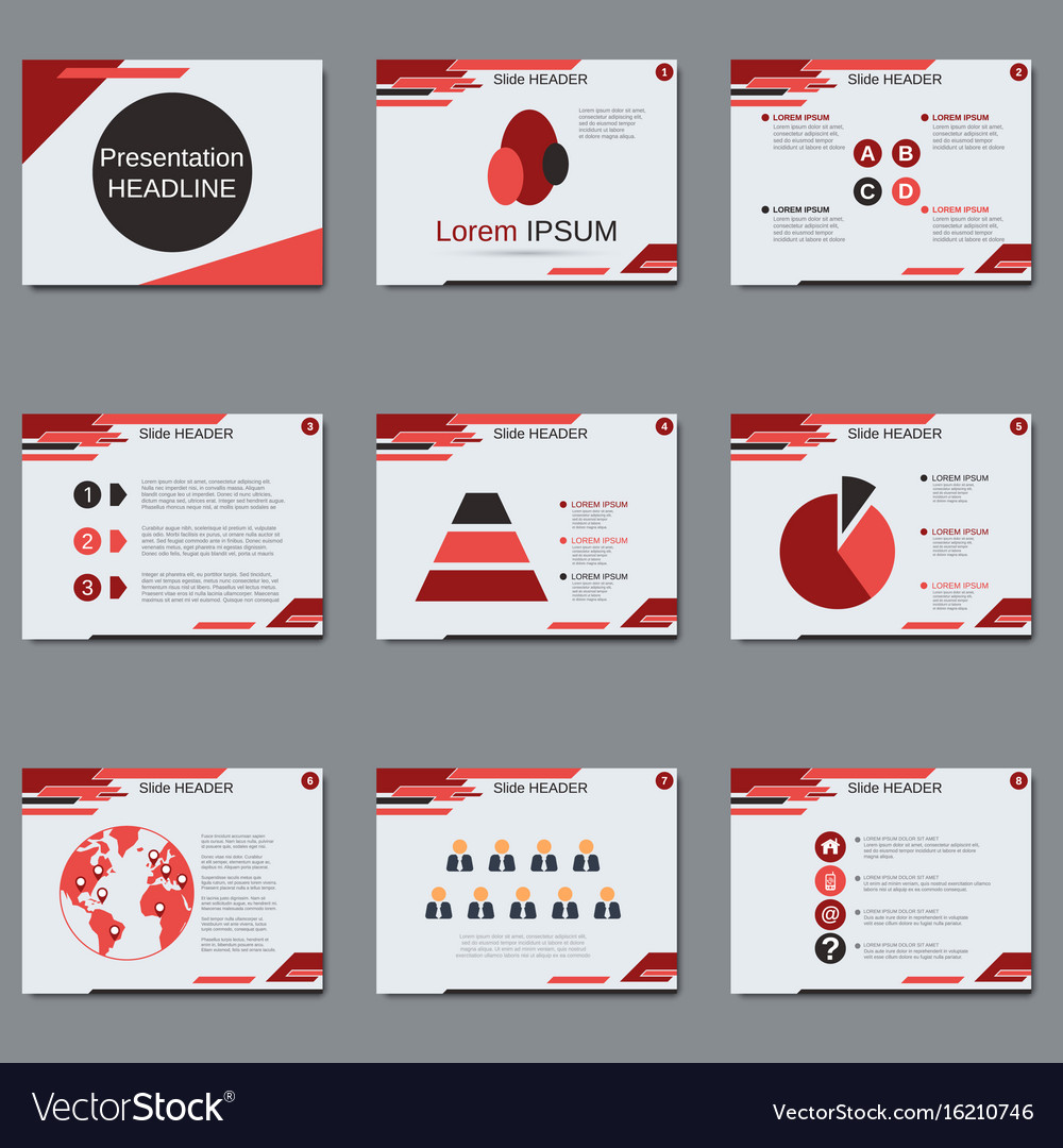 Professional business presentation template vector image wajeb Images