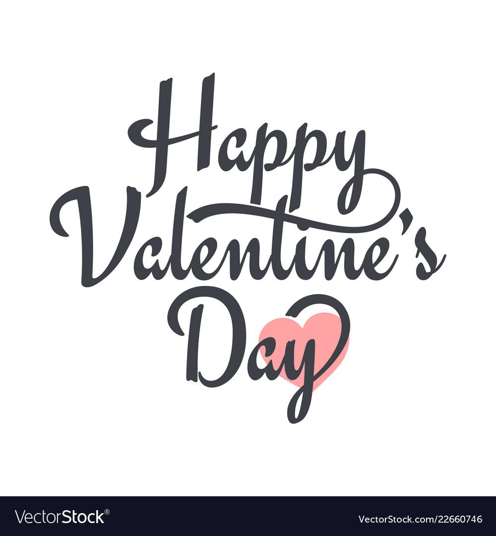 Valentines day vintage lettering valentine sign