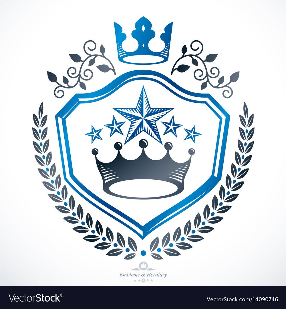 Vintage award design vintage heraldic coat of