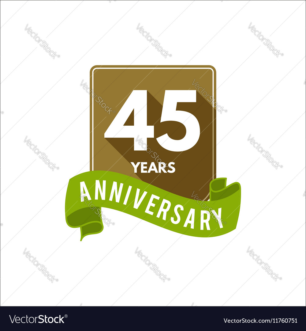 45 years Anniversary badge sign and emblem with
