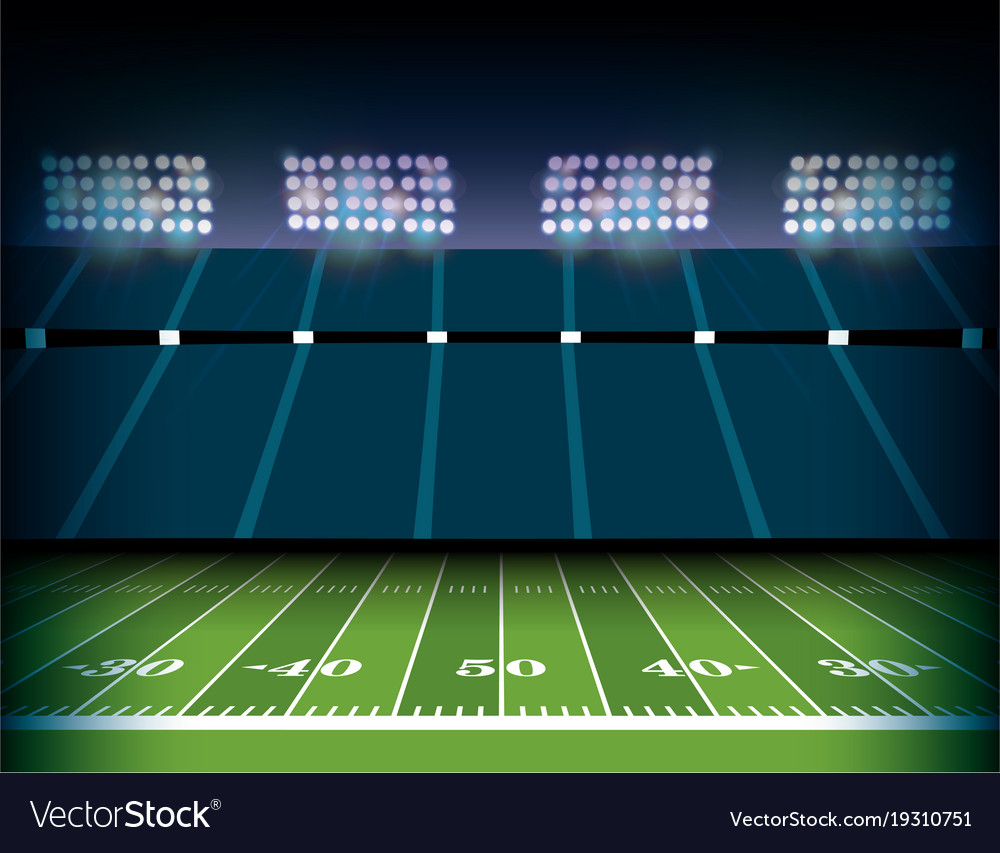 american football stadium and field background vector image vectorstock