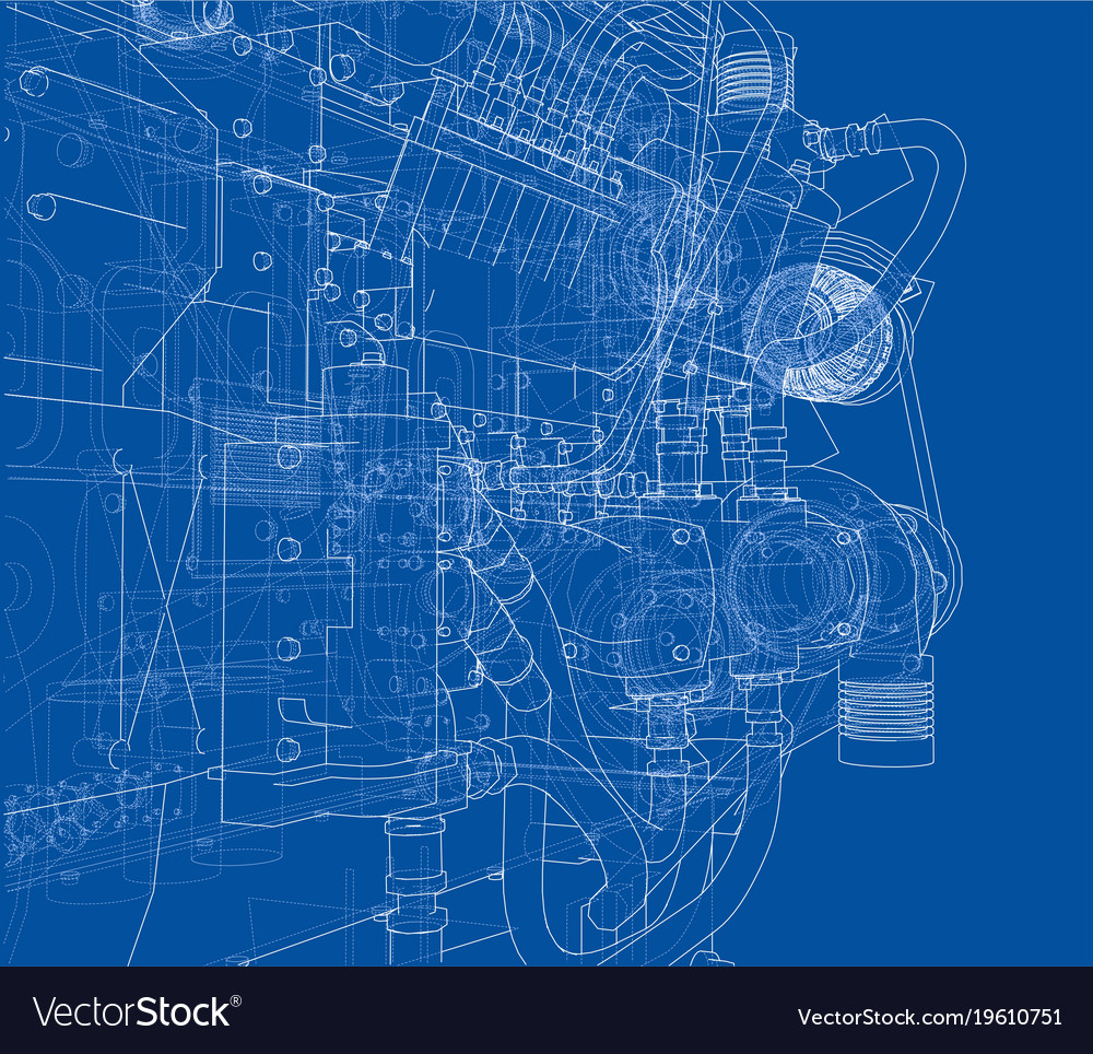 Car 3d Schematic Wire Center Benq Lcd G922hd Main Power Supply Diagram Electro Help Engine Rendering Of Royalty Free Vector Image Rh Vectorstock Com City Mechanical Schematics