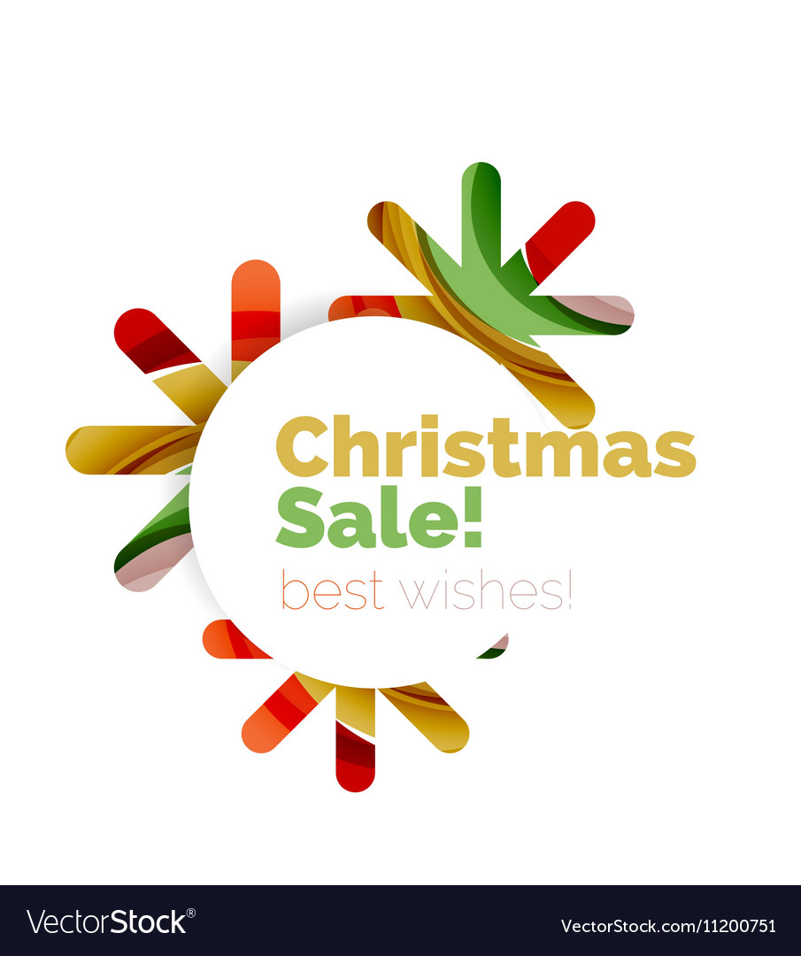 christmas and new year sale banner vector image