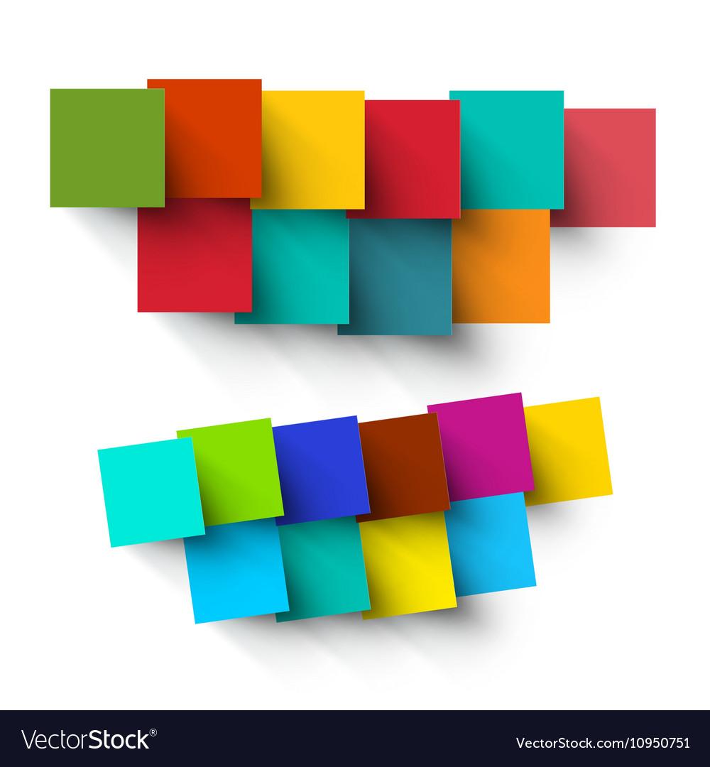 Empty Paper Cut Colorful Square Pieces