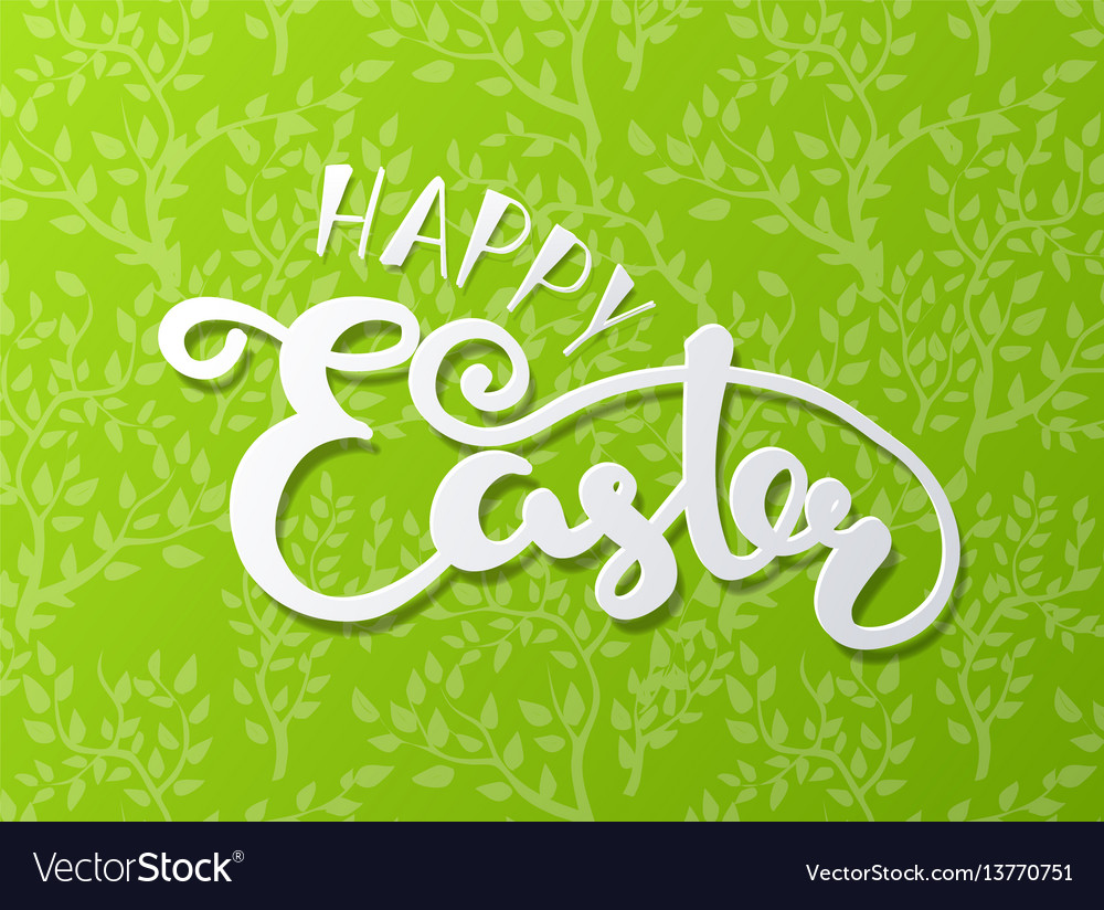 Happy easter lettering typography seasons