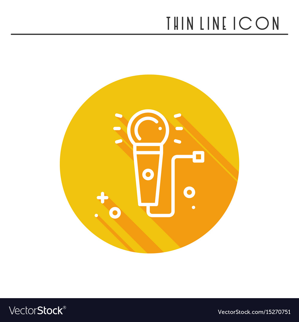 Microphone line outline icon voice record