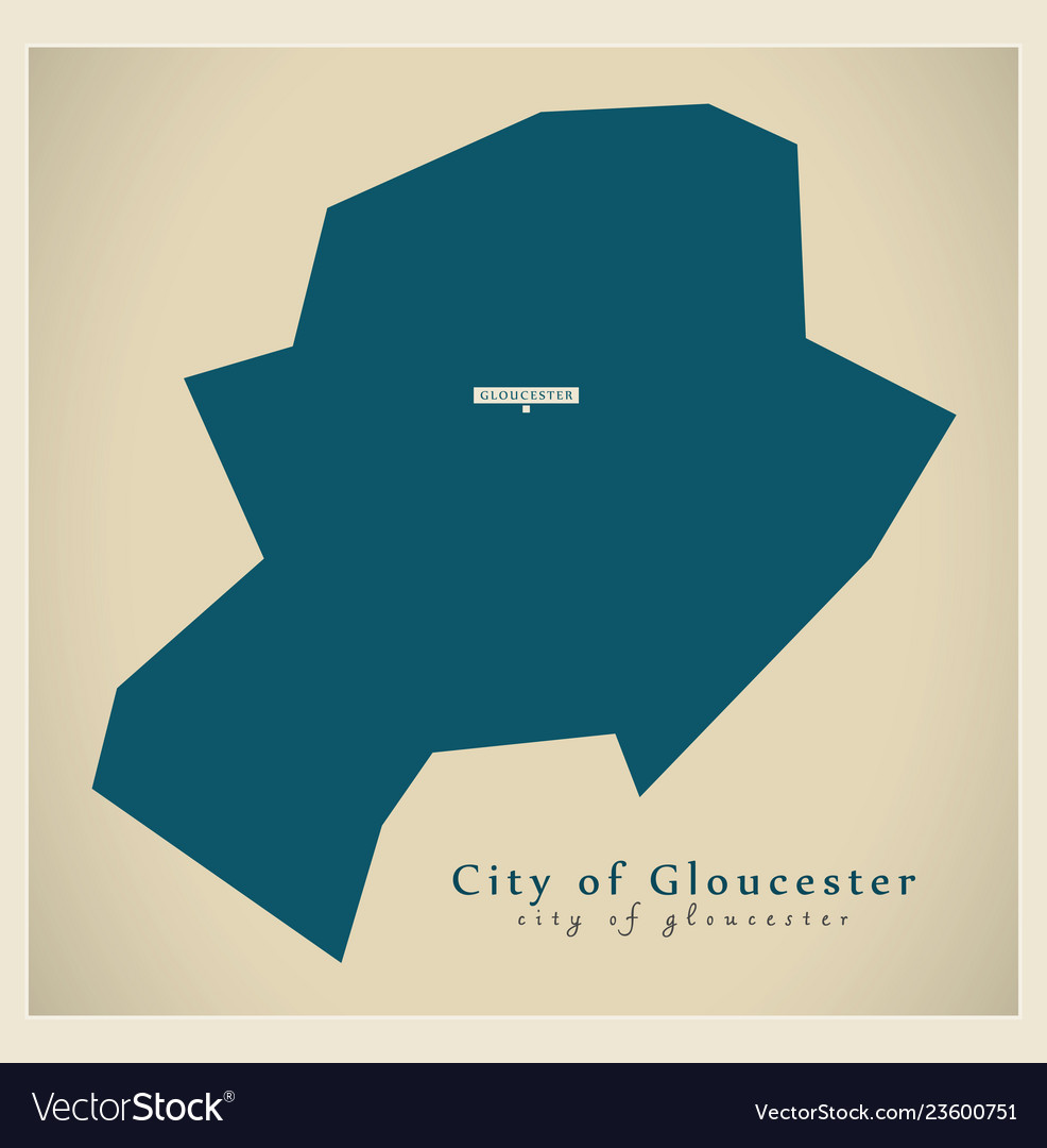 Map Of Uk Gloucester.Modern Map City Of Gloucester District Uk