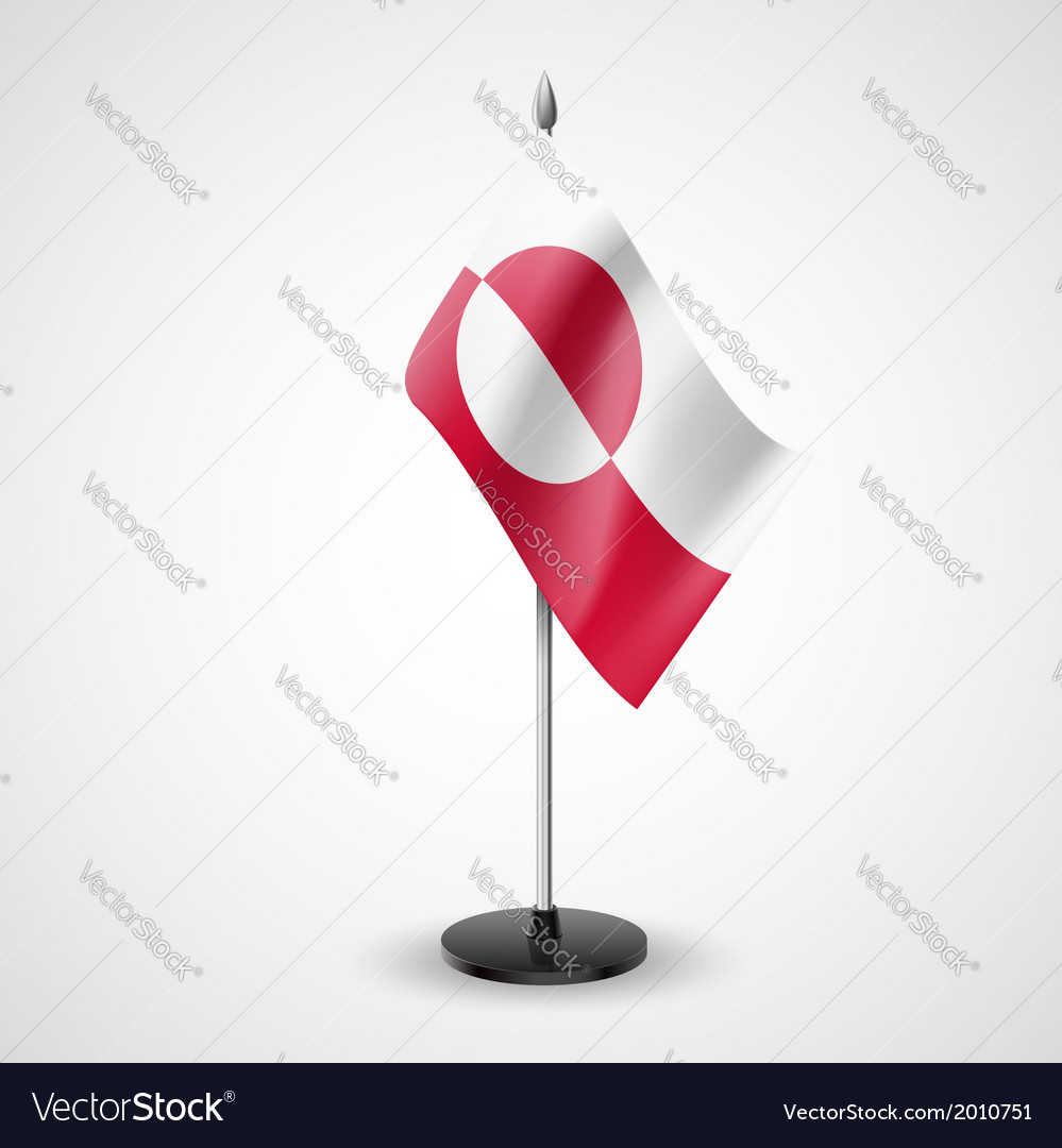 Table flag of Greenland vector image