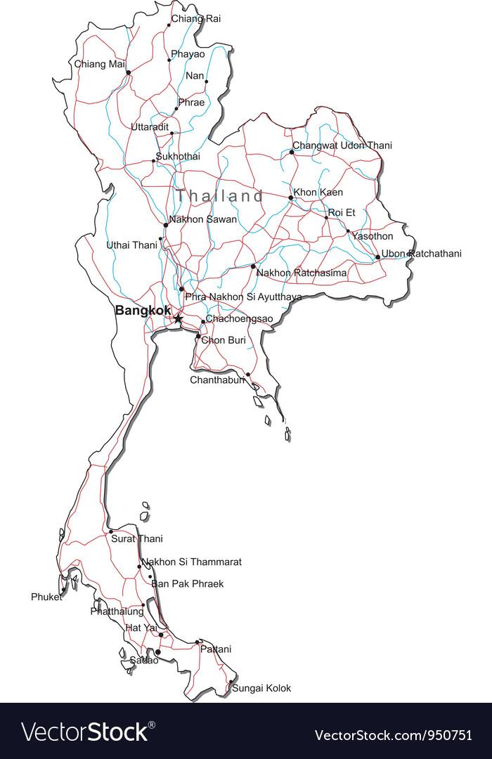 vector map thailand