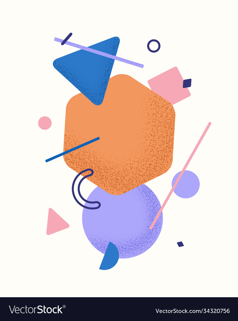 Abstract composition geometric elements with