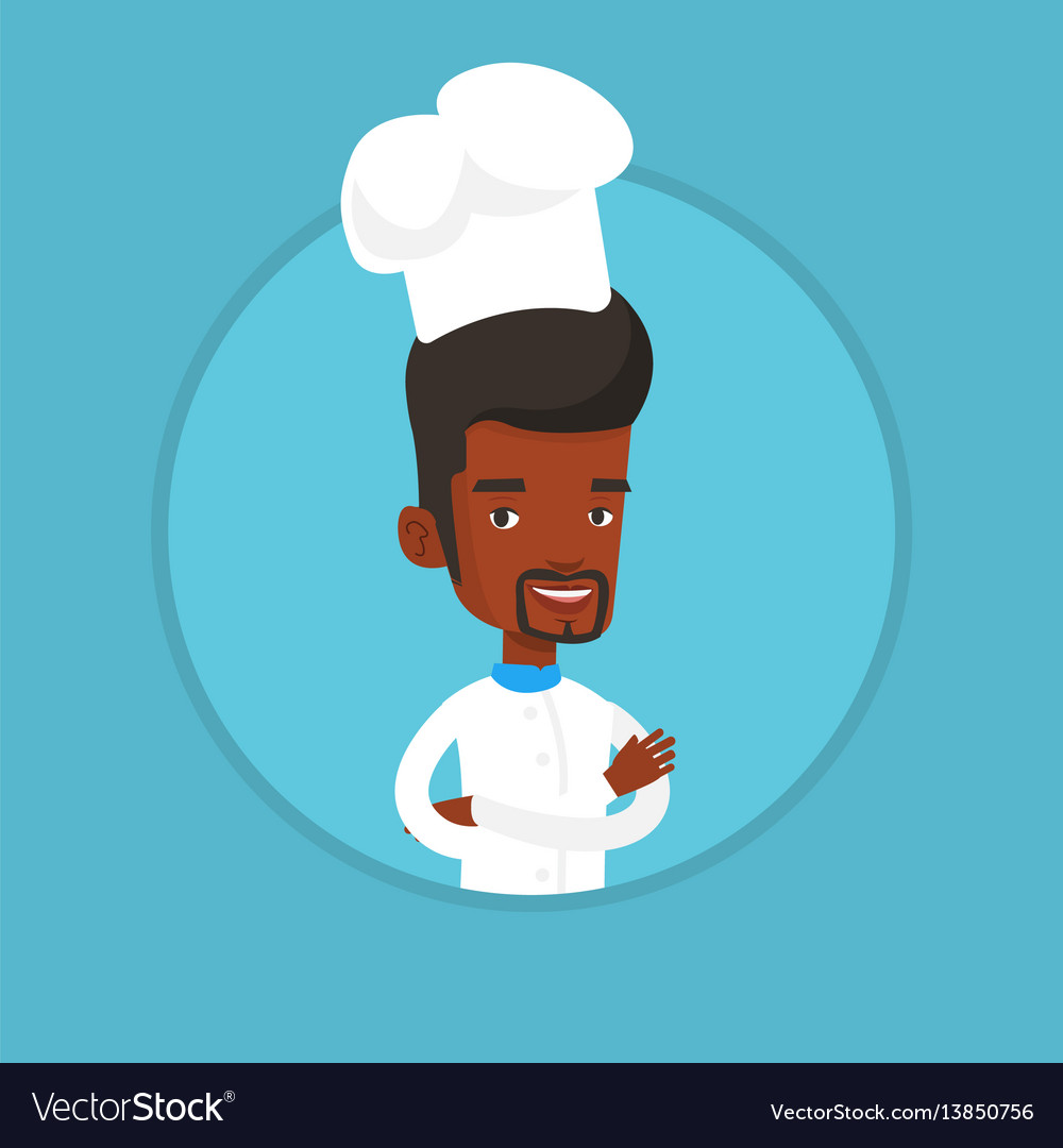 Confident male chief cooker with arms crossed