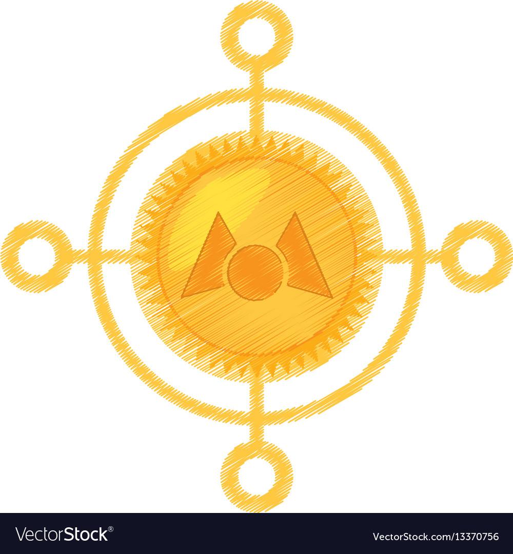 Drawing mastercoin currency icon vector image