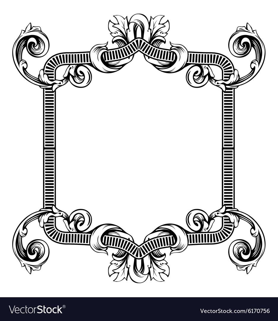 Floral label frame 2