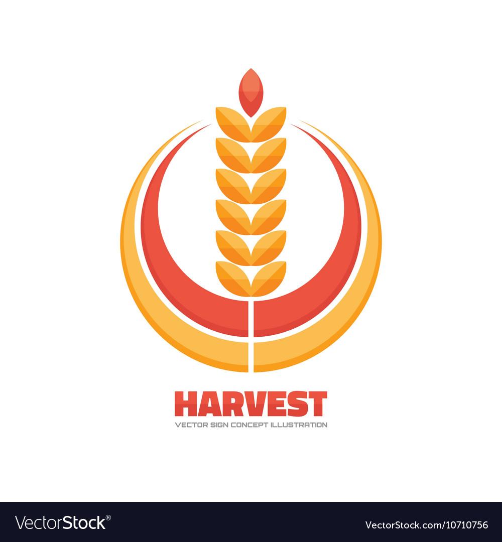 Harvest logo concept sign vector image