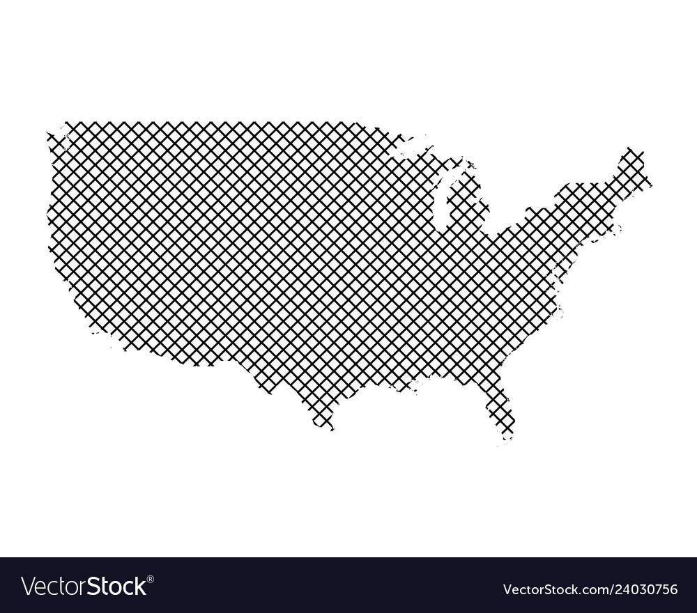 Map Of The Usa On Simple Cross Stitch