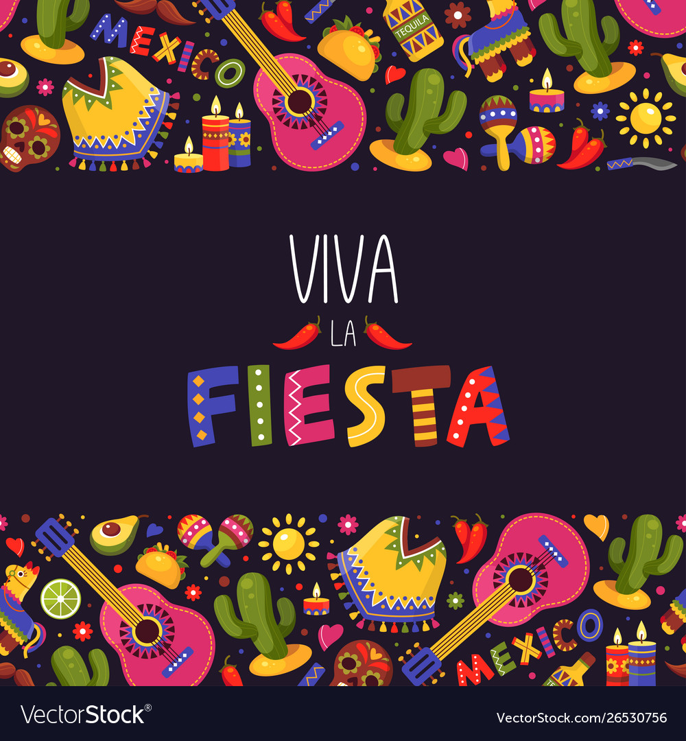 Mexican fiesta background traditional decoration