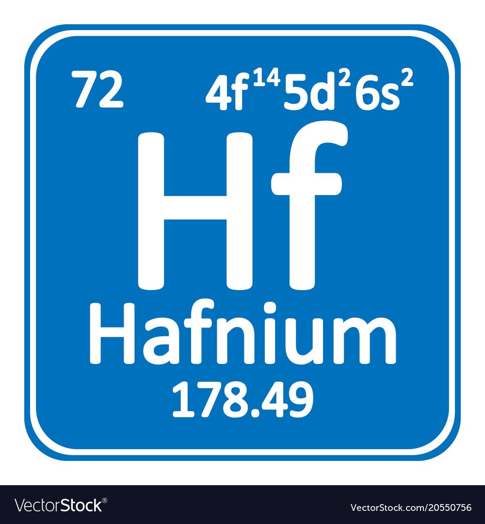 Periodic table element hafnium icon royalty free vector periodic table element hafnium icon vector image urtaz Images