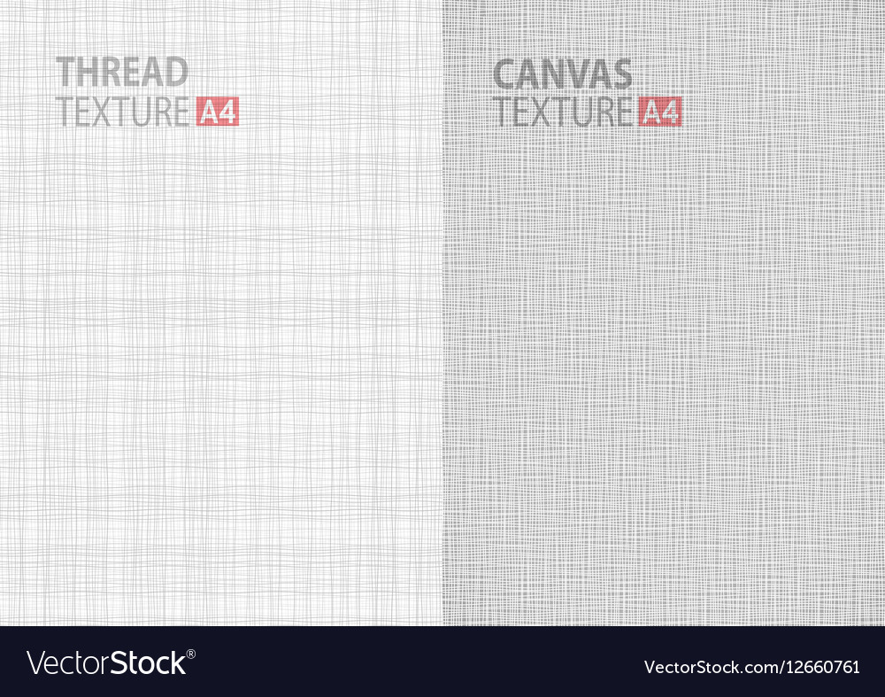 Backgrounds thread canvas textures in A4 size vector image