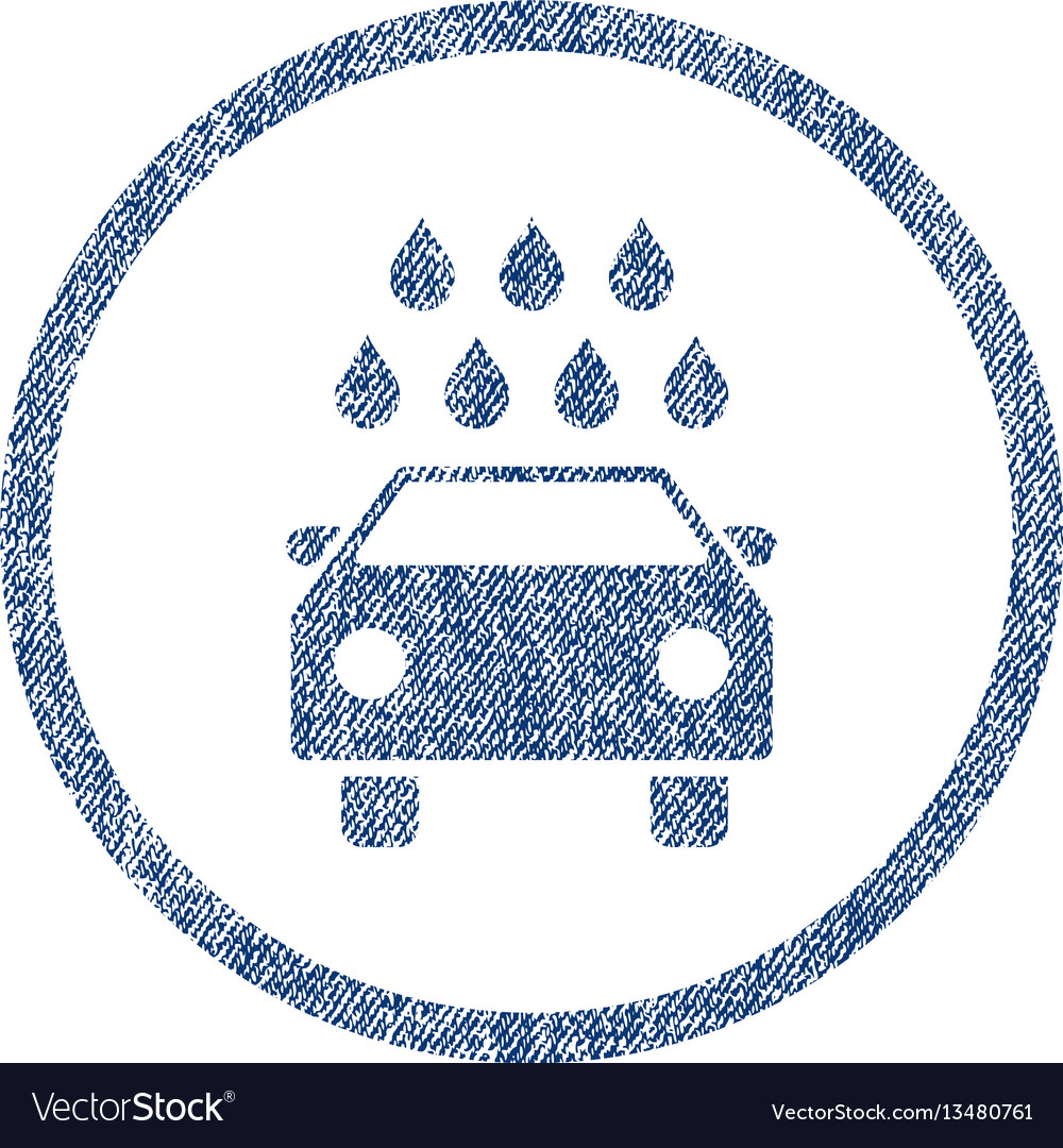 Car shower fabric textured icon