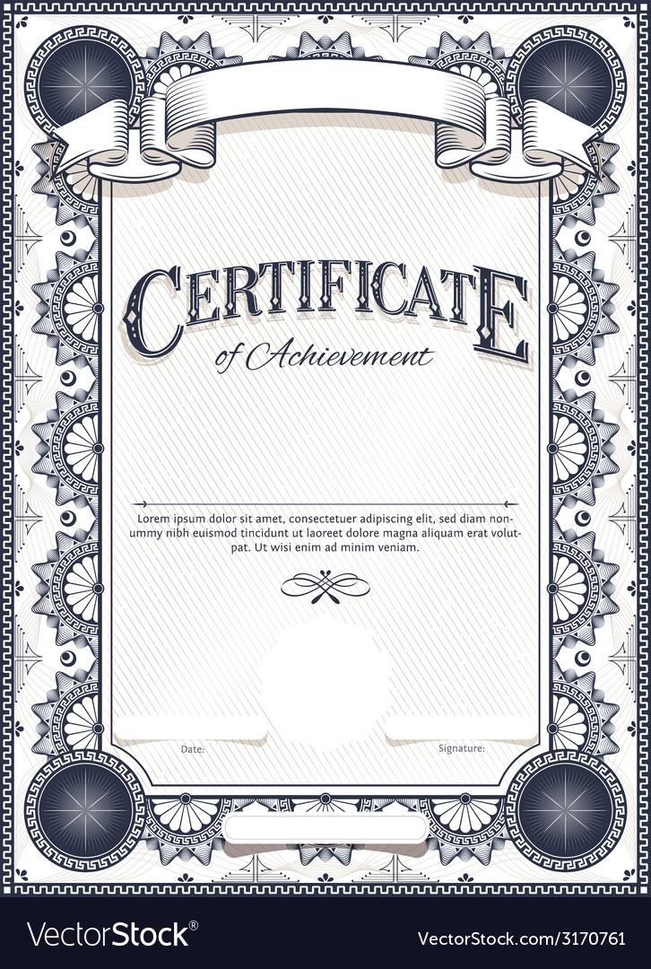 Certificate Royalty Free Vector Image Vectorstock