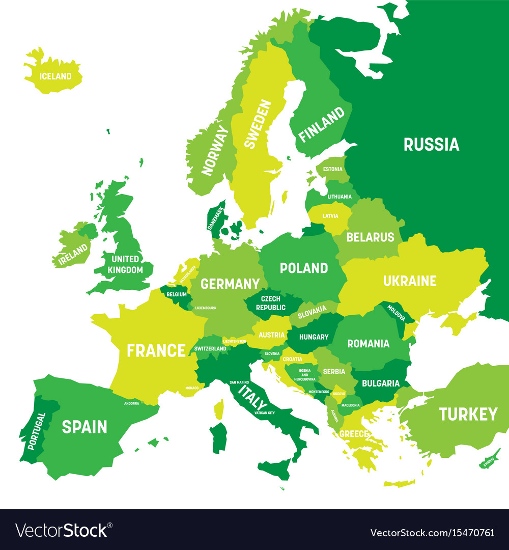 Political map of europe continent in four shades vector image gumiabroncs Images