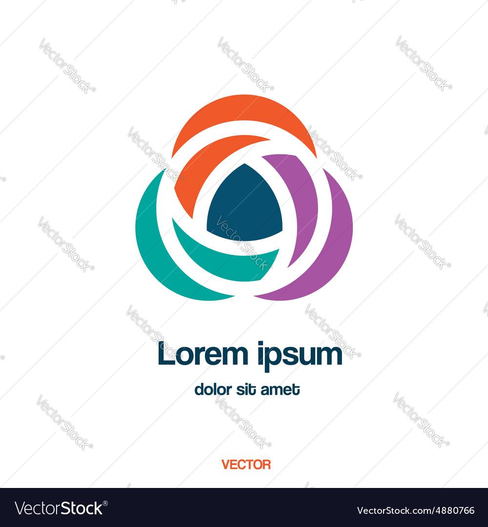 Abstract creative logo template vector image