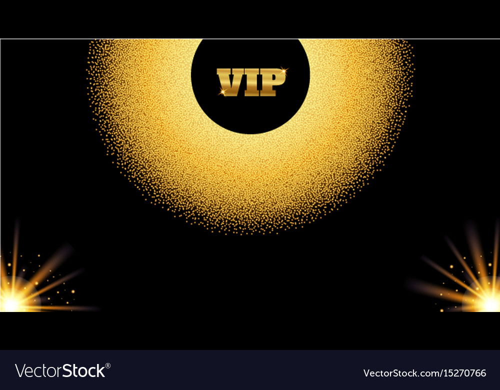 Abstract golden vip invitation card with glow vector image stopboris Gallery