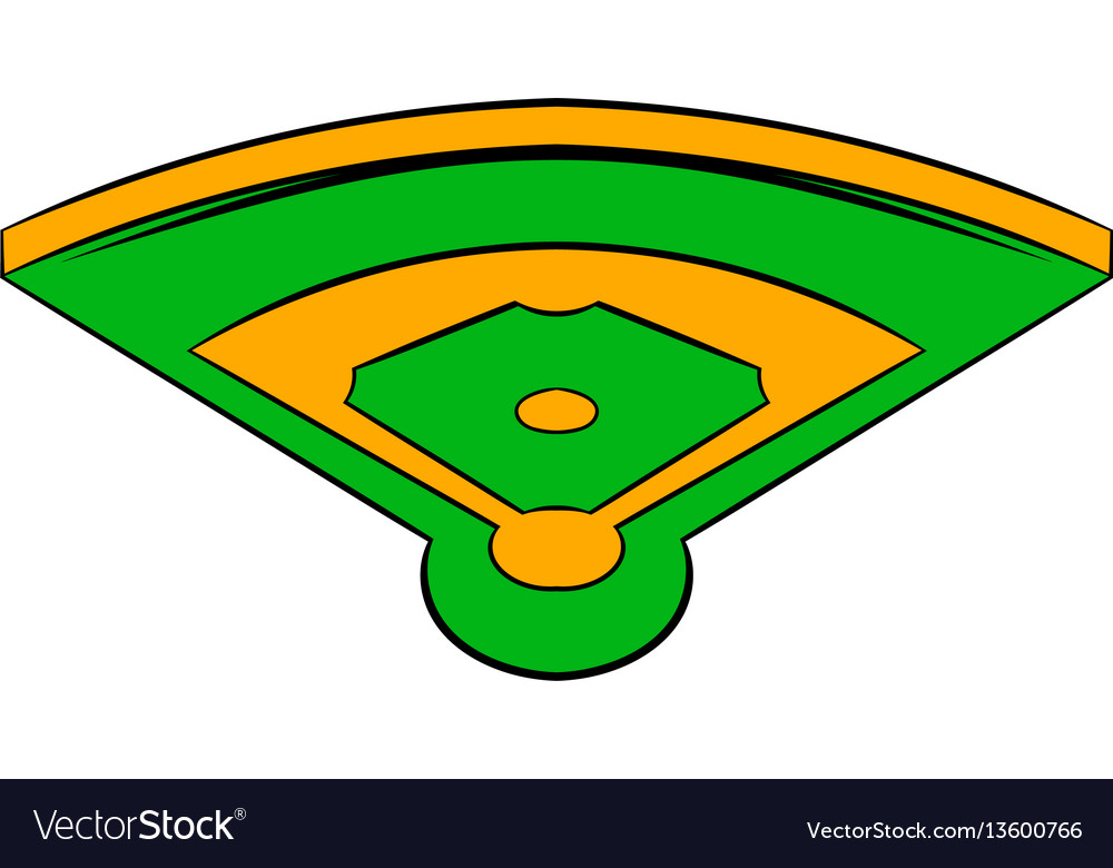 Baseball field icon icon cartoon vector image