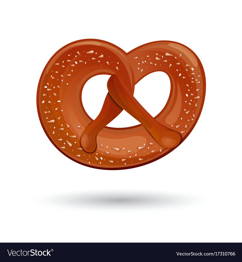 fresh tasty pretzel for oktoberfest royalty free vector