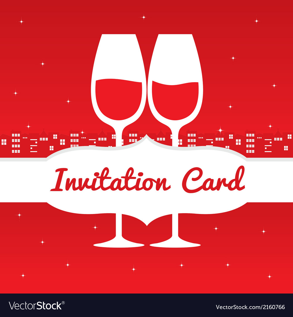 Save date invitation card vector