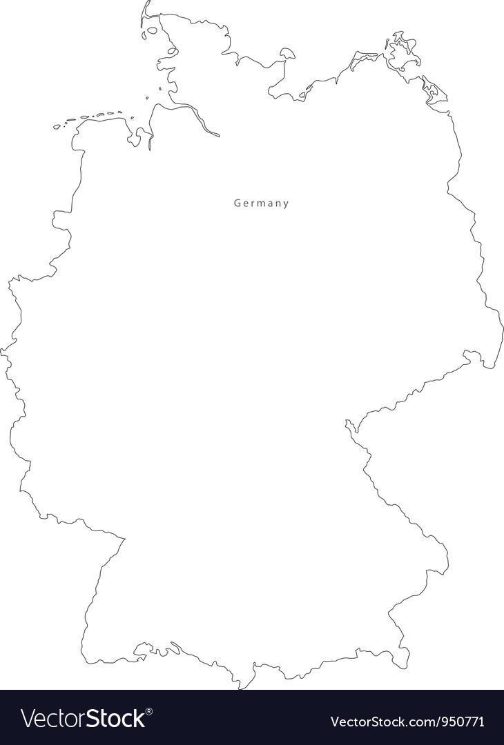 Outline Map Of Germany.Black White Germany Outline Map Royalty Free Vector Image