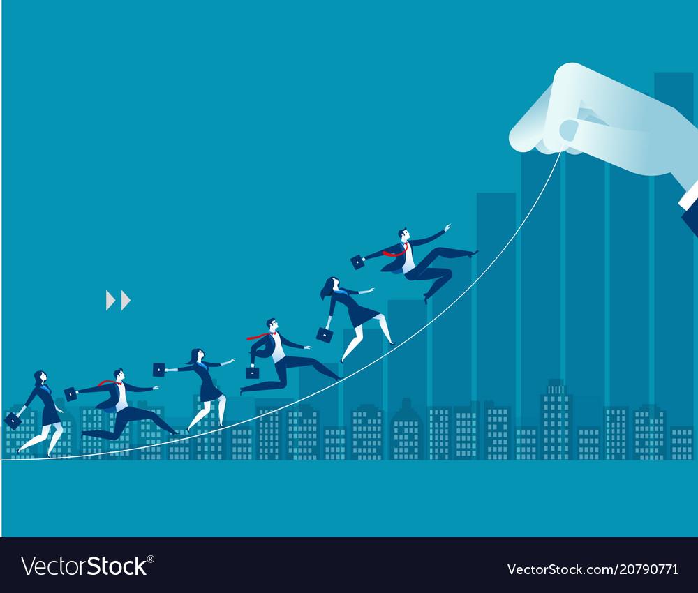 Businessperson up toward target