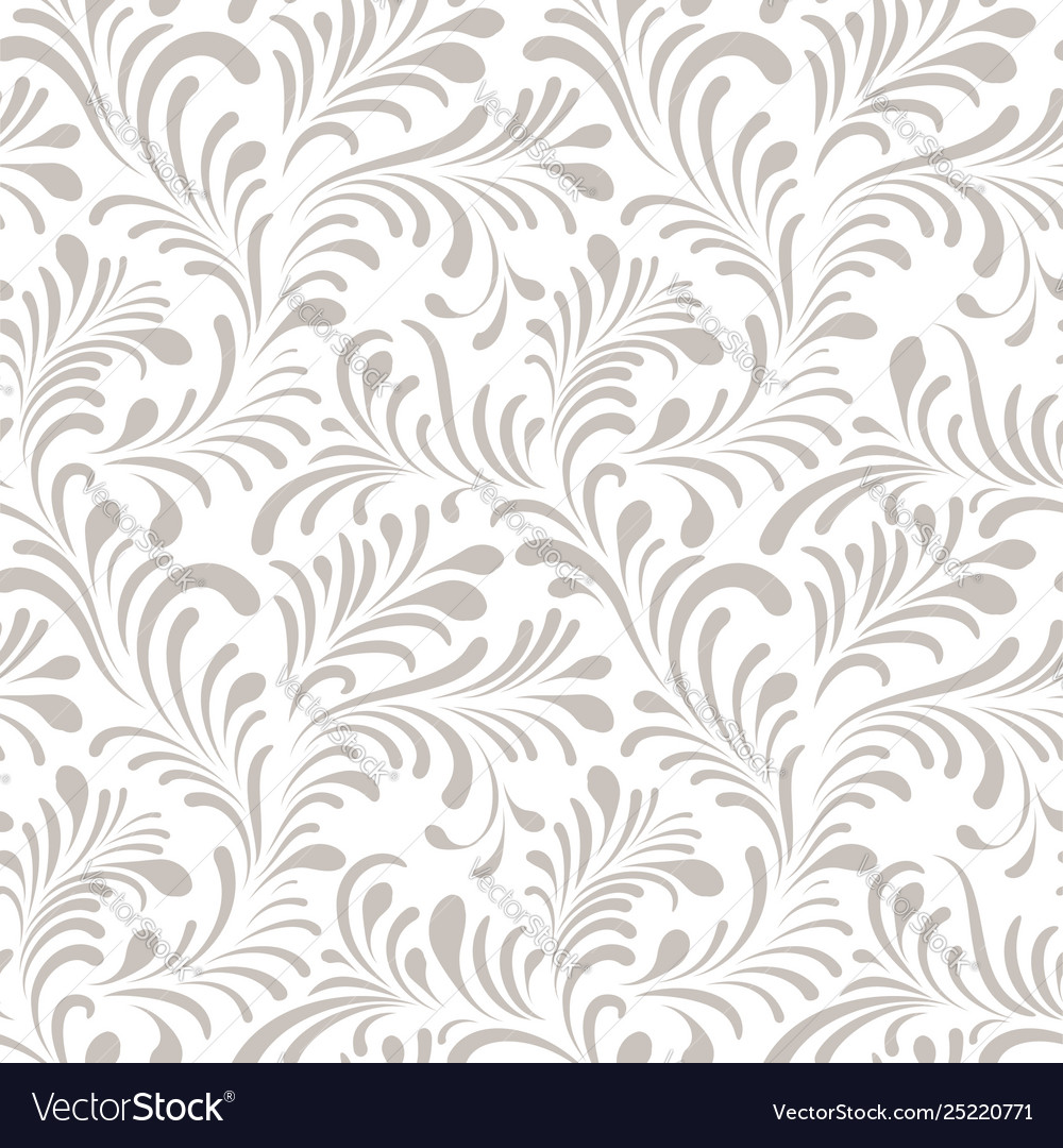 Floral seamless pattern with abstract shaped