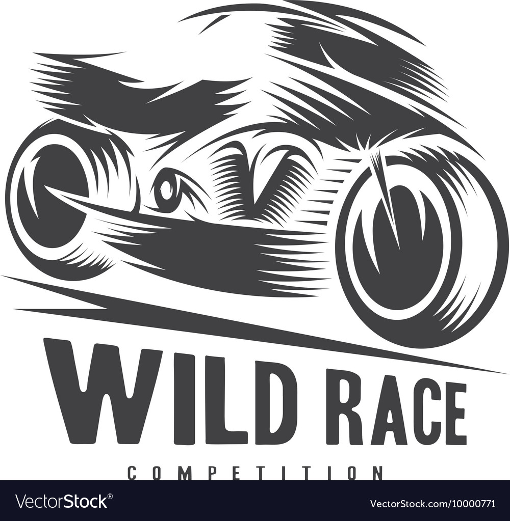 high speed motorcycle design template royalty free vector