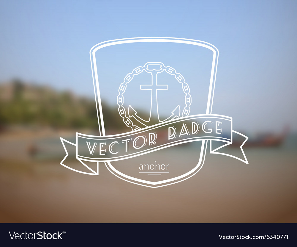 Retro nautical badge